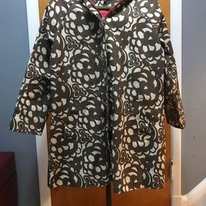 Boden brown and beige floral raincoat